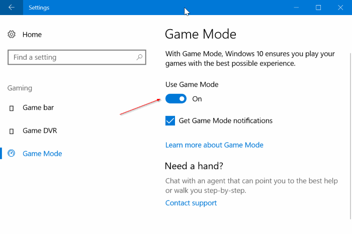 turn on game mode in Windows 10 pic1