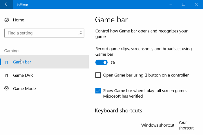 turn on game mode in Windows 10 pic2