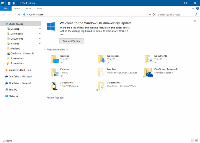 disable ads in file explorer in windows 10