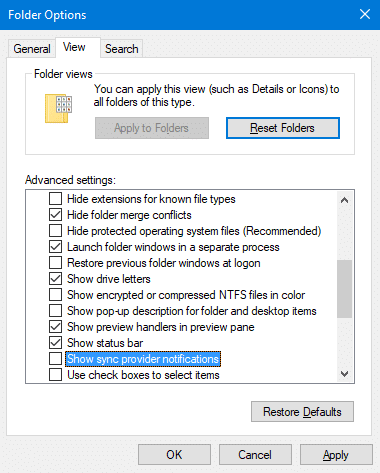 Disable ads in File Explorer in Windows 10 pic3