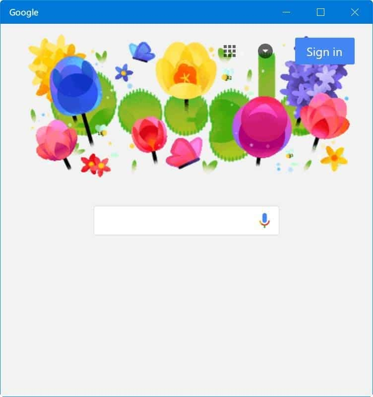 Google search app for Windows 10 pic002