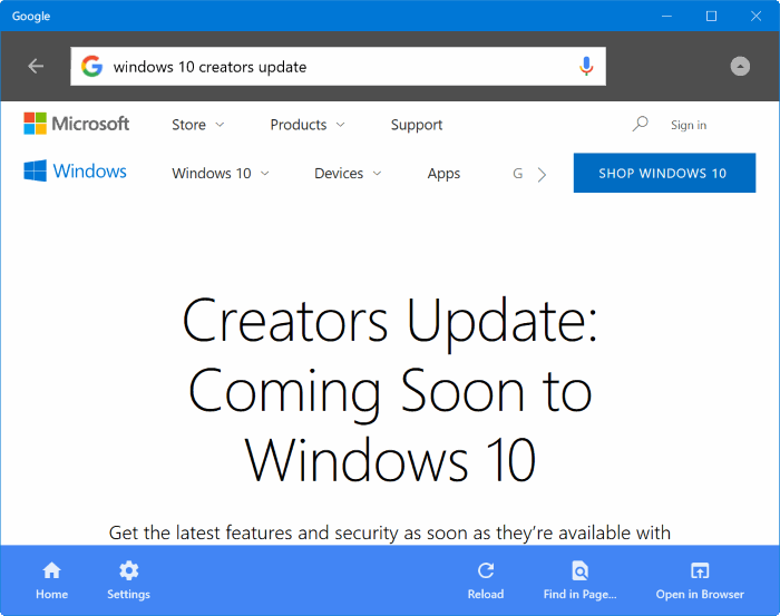 Google search app for Windows 10 pic4