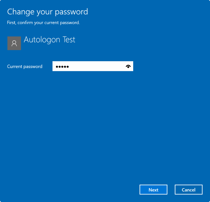 Remove user account password in Windows 10 pic2