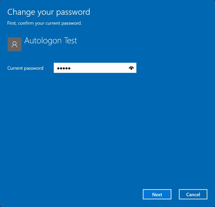 Remove user account password in Windows 10 pic2