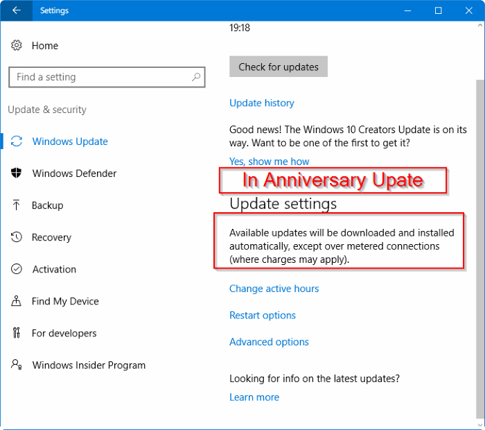 Windows 10 downloading updats over metered connection