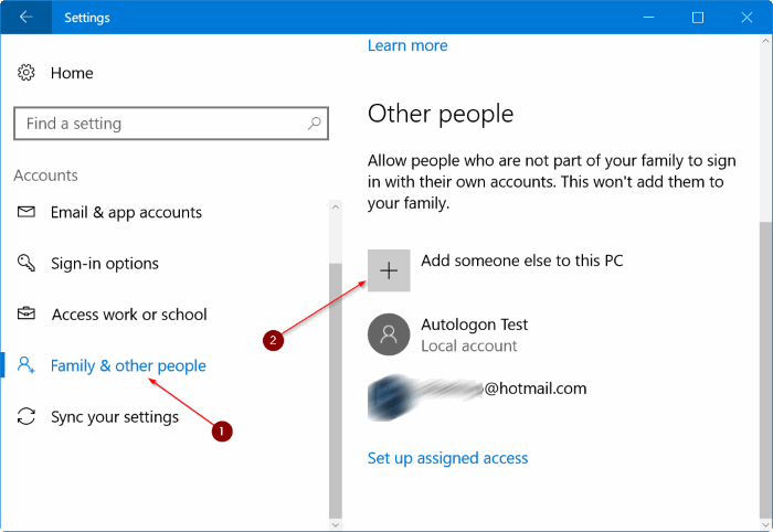create a new administrator account in Windows 10 pic1
