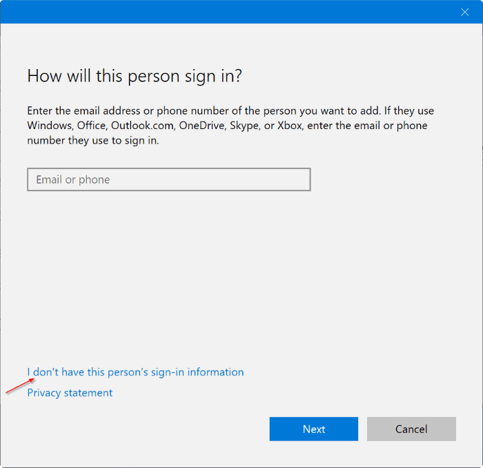 create a new administrator account in Windows 10 pic2