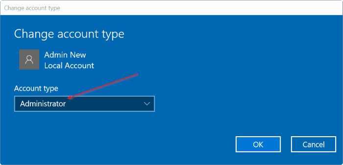 create a new administrator account in Windows 10 pic6