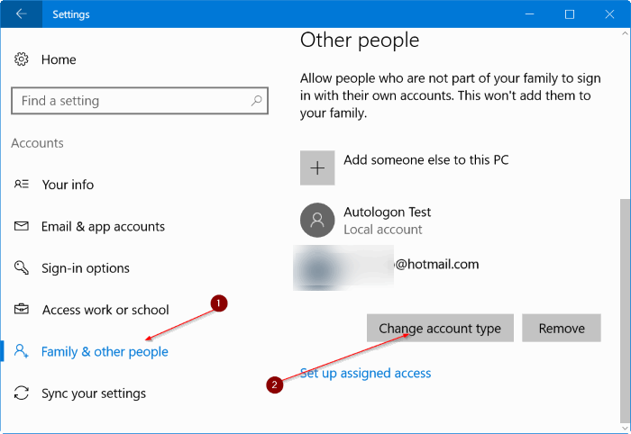 create a new administrator account in Windows 10 pic8