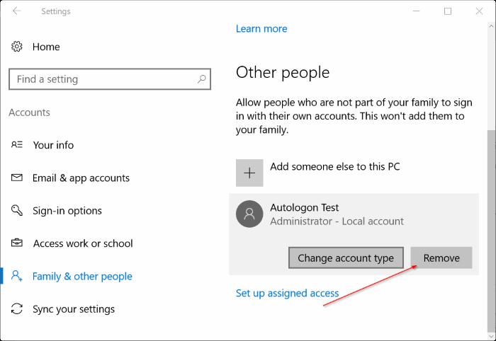 delete administrator account in Windows 10 pic1