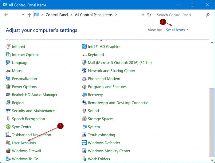 delete administrator account in Windows 10 pic5