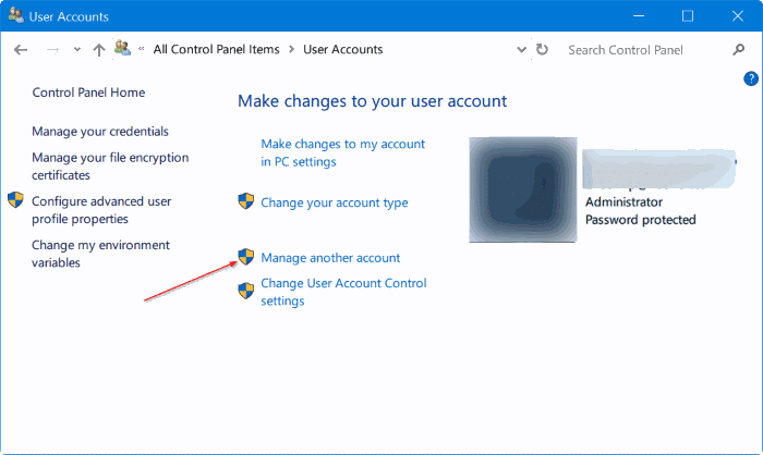 what is my administrator username and password windows 10