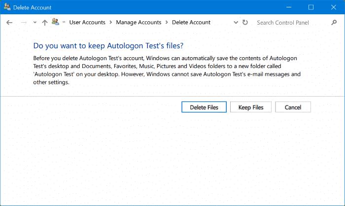 delete administrator account in Windows 10 pic9