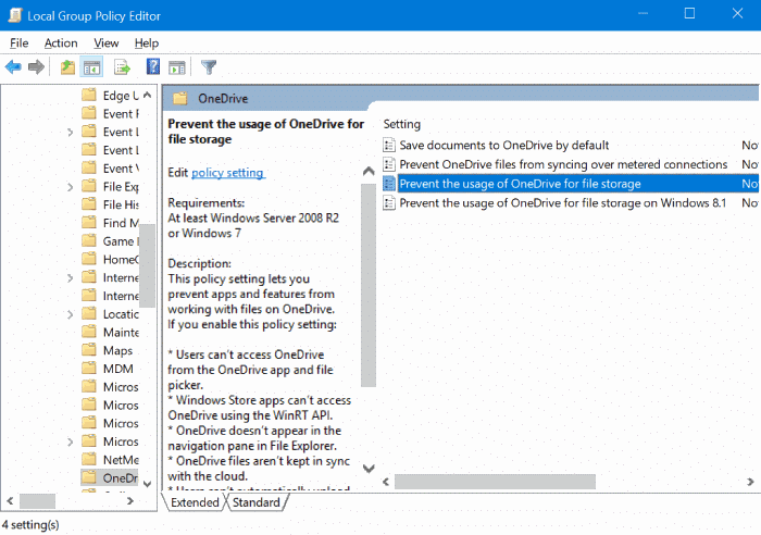 disable Set up onedrive pop up dialog in Windows 10 pic1