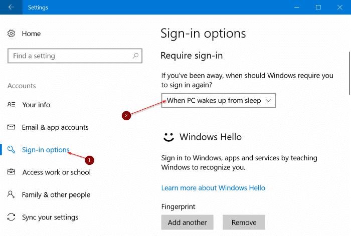 password protect Windows 10 pic6
