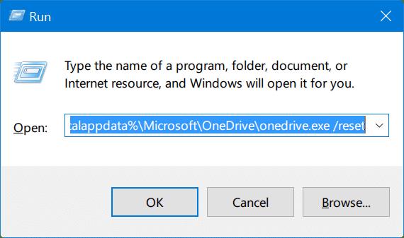 reset onedrive in windows 10 pic1