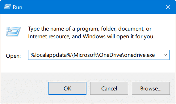 reset onedrive in windows 10 pic2