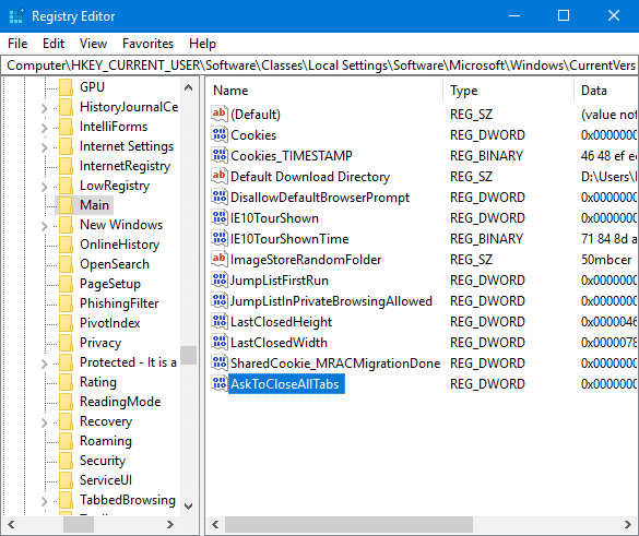 restore do you want to close all tabs in Edge pic3