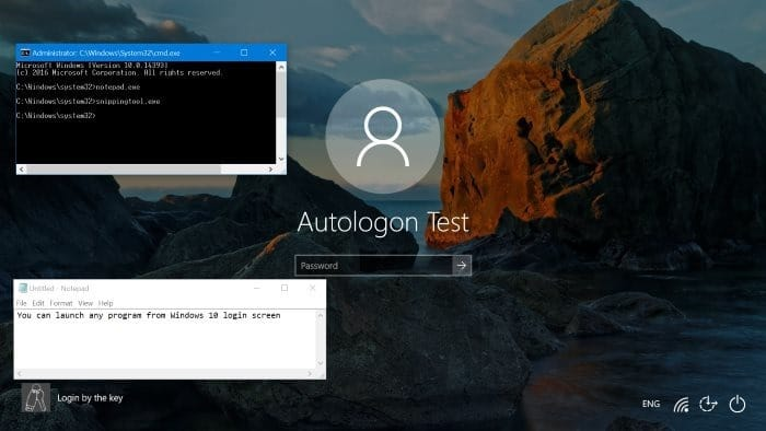 How To Run Any Program From Windows 10 Login Screen