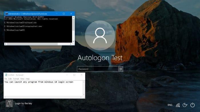 How To Run Any Program From Windows 10 Login Screen