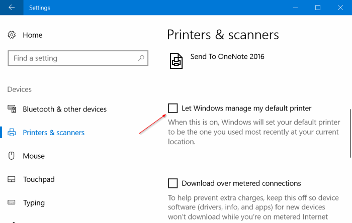 set default printer in windows 10 pic1