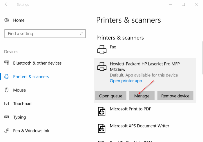 set default printer in windows 10 pic2