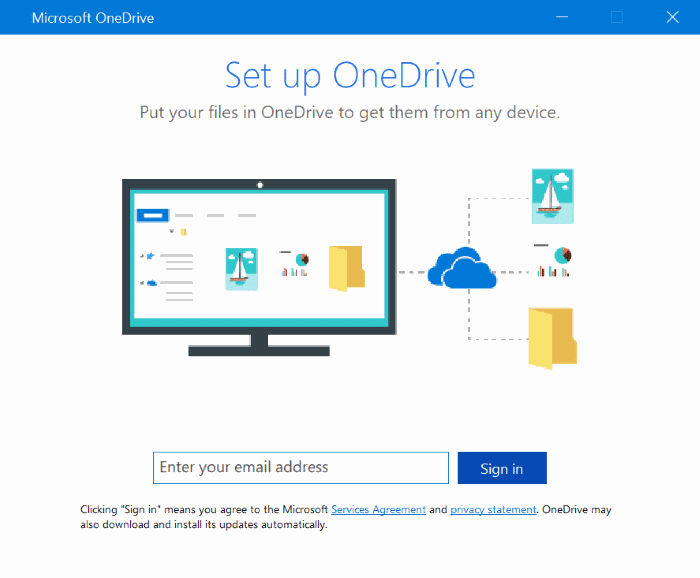 disable set up onedrive pop up windows 10