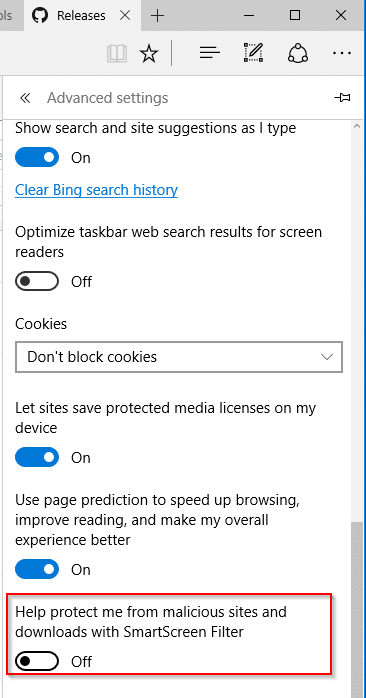 this unsafe file was blocked by smartscreen in edge pic3