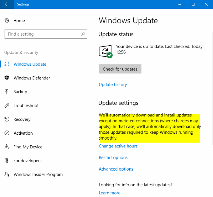 Windows 10 Automatically Downloads Updates On Metered Connections