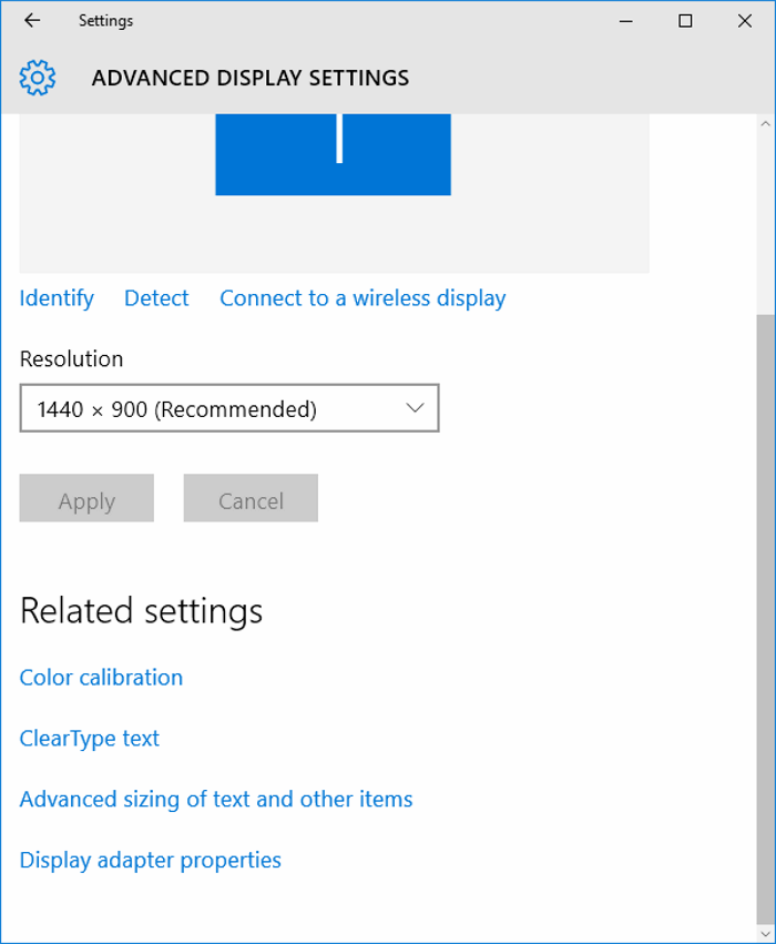 Advanced sizing of text and other items Windows 10 Creators Update1