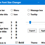 System Font Changer: Change System Font Size In Windows 10 Creators Update