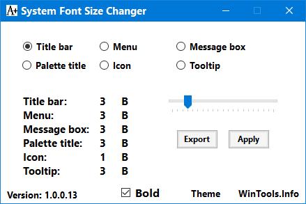 System Font Changer: Change System Font Size In Windows 10 Creators Update