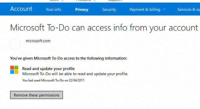 delete Microsfot To Do account pic2