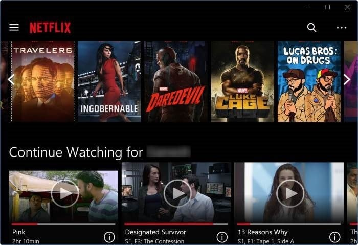 download Netflix app for Windows 10 pic2