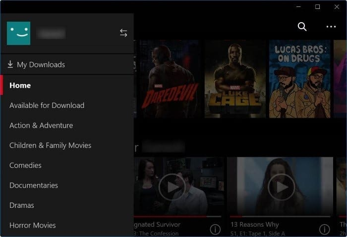 download Netflix app for Windows 10 pic3