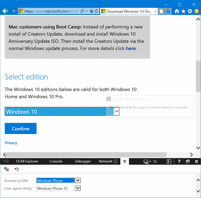 download Windows 10 ISO without media creation tool pic4