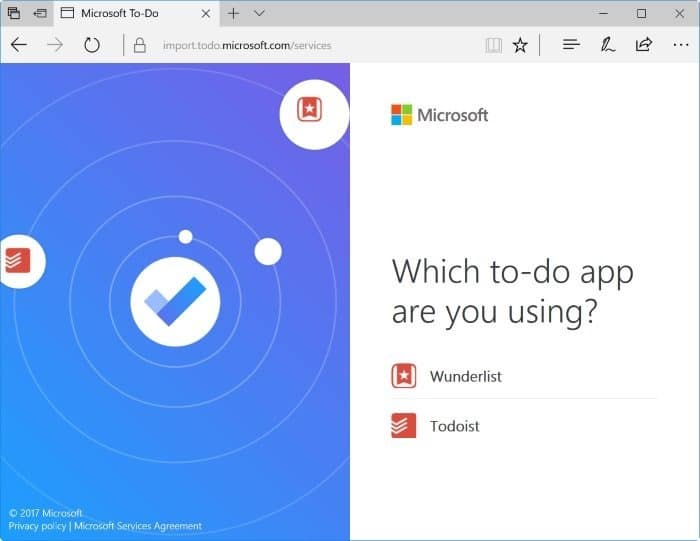 import wunderlist and todoist to Microsoft To-Do pic2
