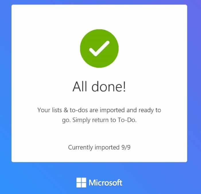 import wunderlist and todoist to microsoft to-do