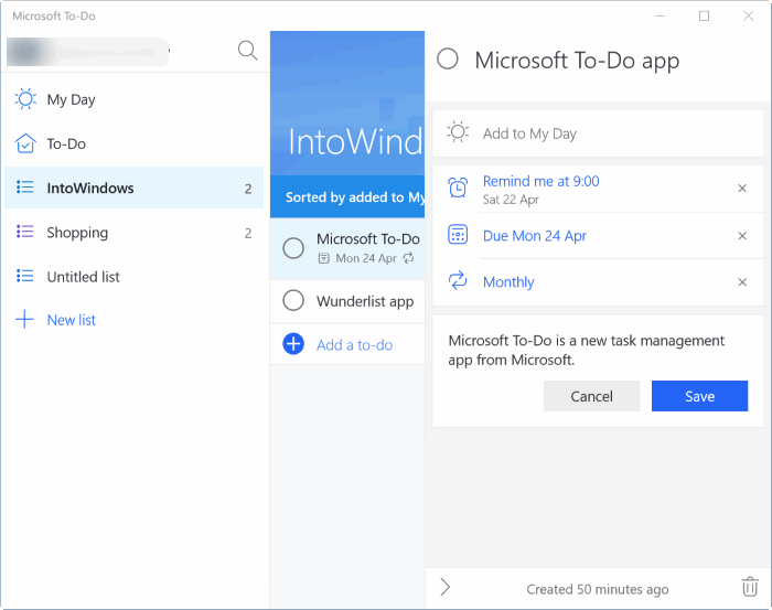 microsoft to-do app for Windows 10