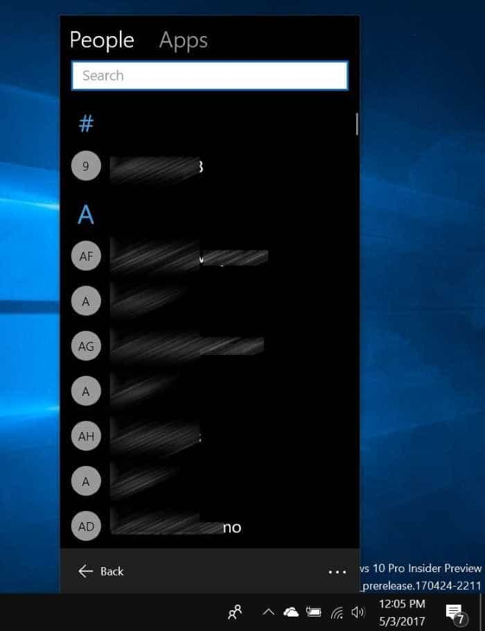 Pin or unpin people contacts to Windows 10 taskbar pic3