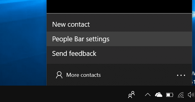 add or remove people bar from Windows 10 taskbar pic3