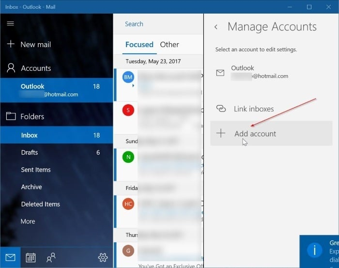 add yahoo mail account to Windows 10 mail step3