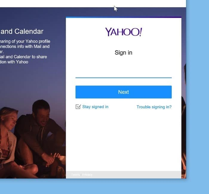 add yahoo mail account to Windows 10 mail step5