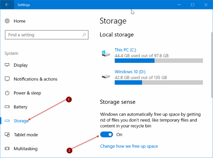 automatically clear delete recycle bin files in Windows 10 pic1