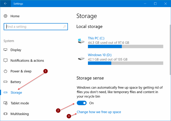 automatically delete files from Downloads folder in Windows 10 pic1