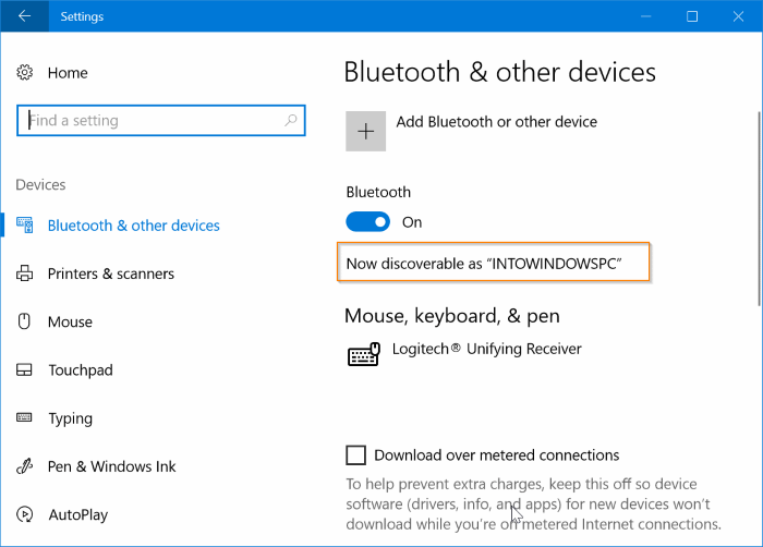 change bluetooth name in Windows 10 pic01