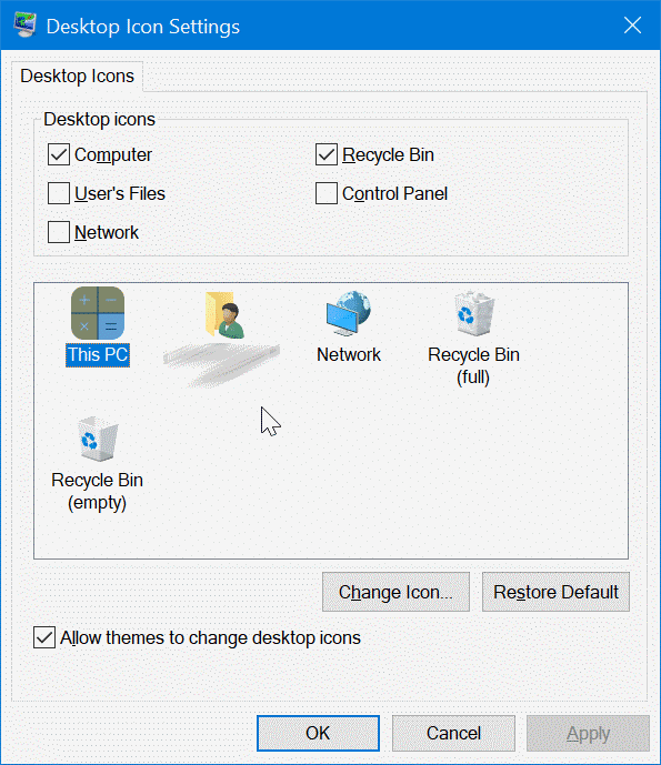 how to move icons in desktop