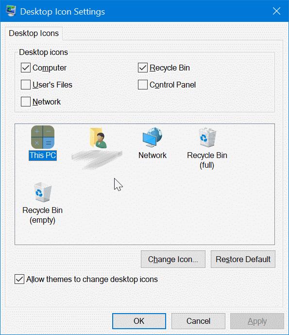 change desktop icons in Windows 10 pic8