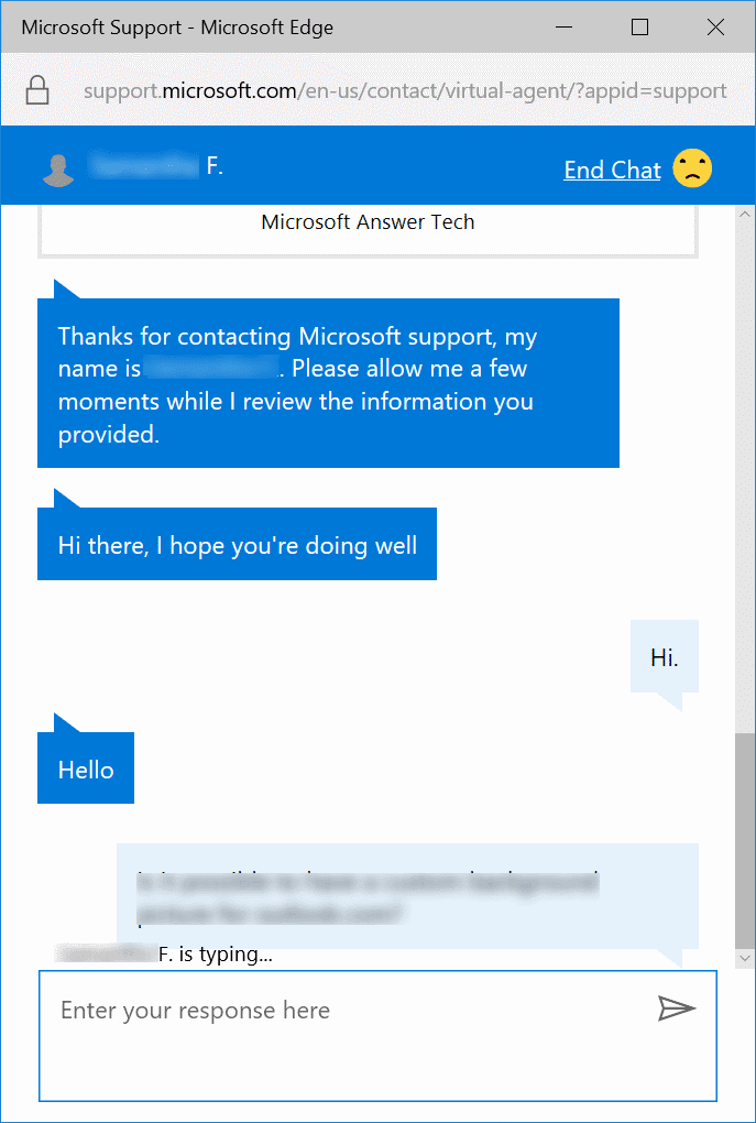 chat with Microsoft support online pic1