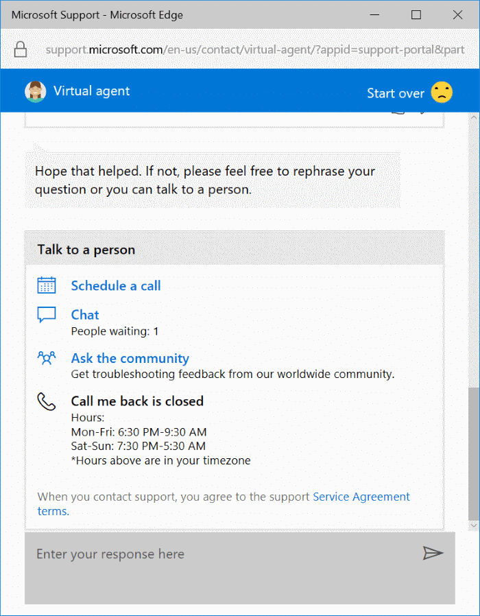 chat with Microsoft support online pic5